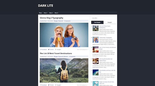 Dark Lite Responsive Blogger Template