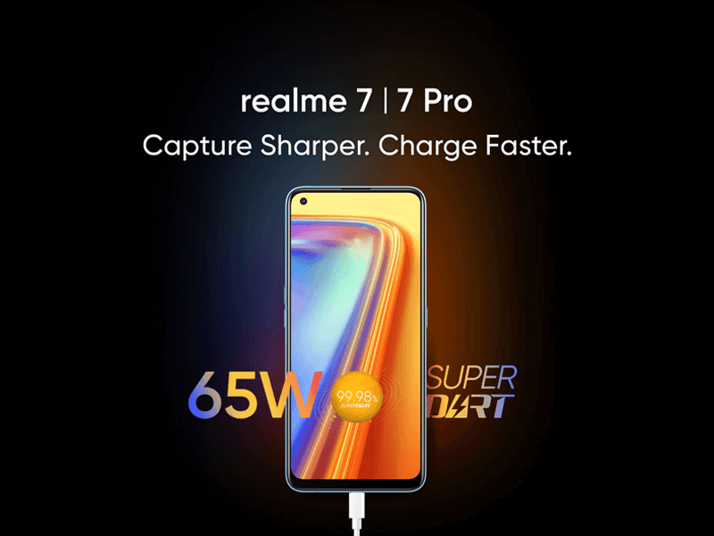 realme 7, 7 Pro with 65W charging teased to arrive this September 3 in India!