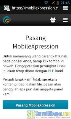 Link instalasi aplikasi survey online android MobileXpression | SurveiDibayar.com