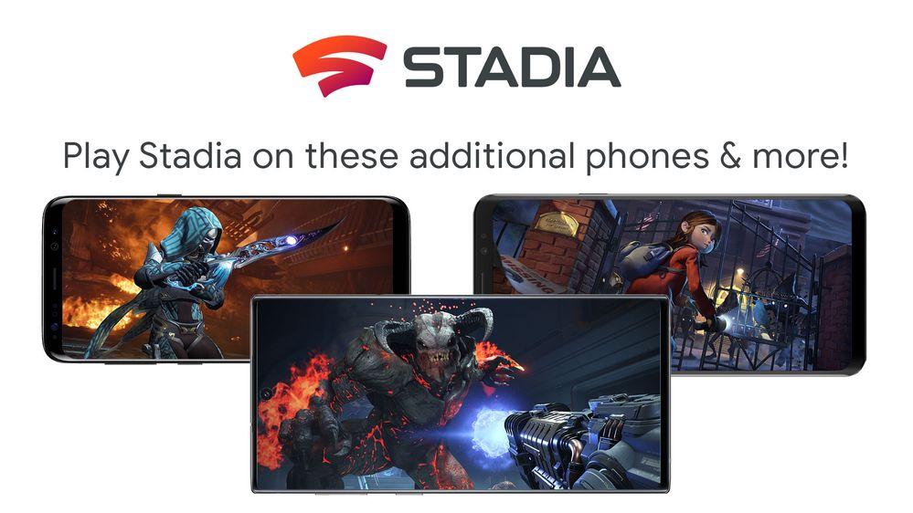 Google Stadia disponibile su più telefoni Samsung e non solo
