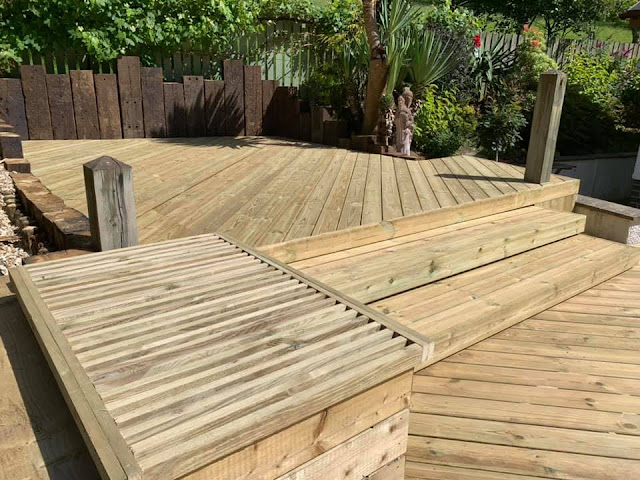 Multi level decking