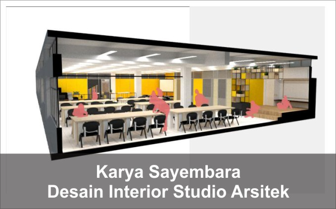 desain studio arsitek, kelas arsitek, desain interior