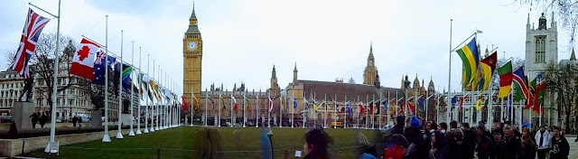 Parliament Square on Commonwealth Day