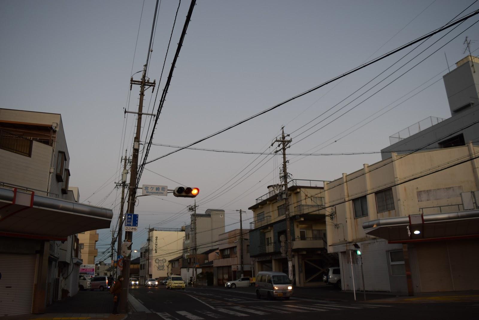 Japanese street in Shizuoka City