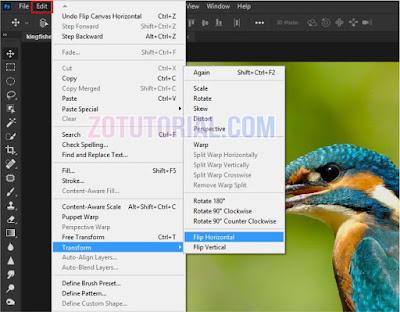 4 Cara Membalikan Gambar di Photoshop Flip atau Mirror Image