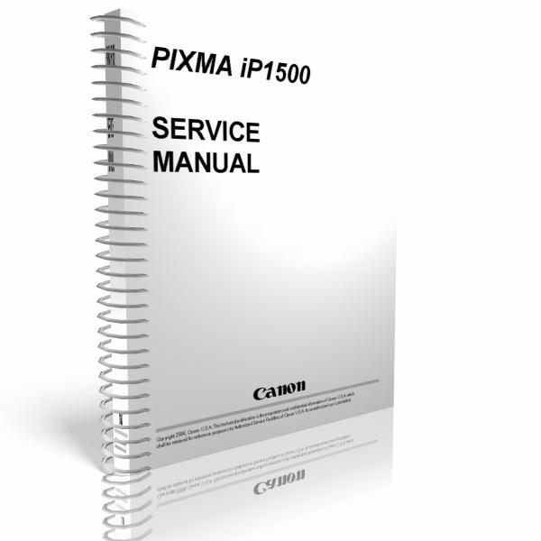 Esquema El U00e9trico  Canon Pixma Ip1500 Service Manual