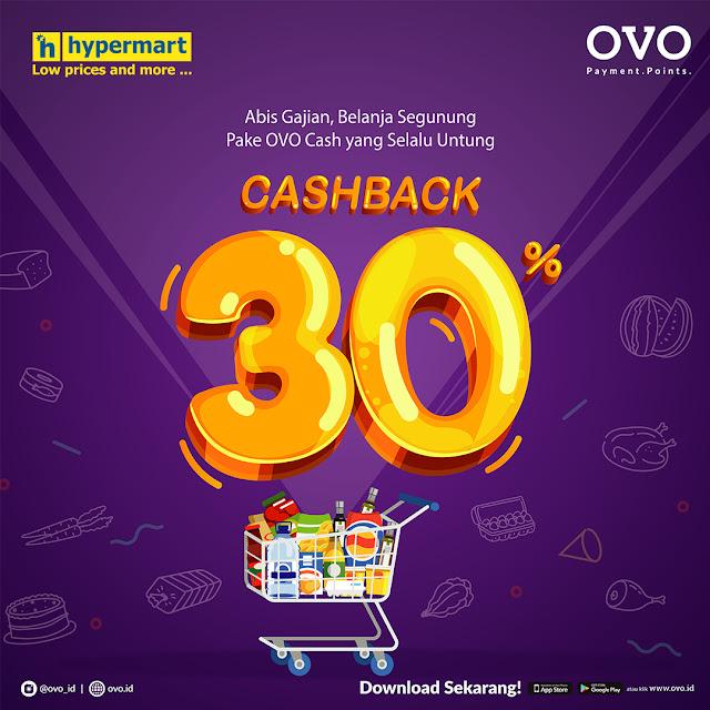 #Hypermart - #Promo Cashback 30% Belanja di Hypermart Pakai OVO (s.d 03 Maret 2019)