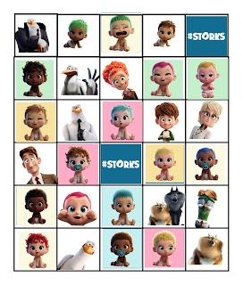 free storks movie bingo