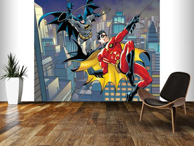 easy up tapet batman robin superhjältar fototapet barntapet 3d