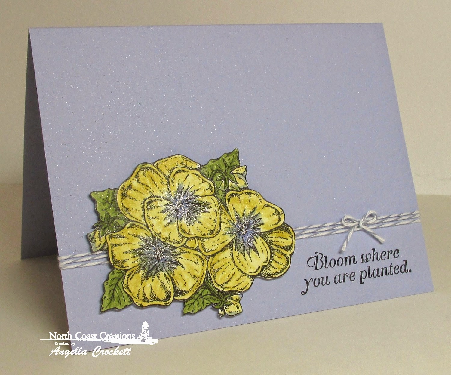 North Coast Creations Pansies, Card Designer Angie Crockett