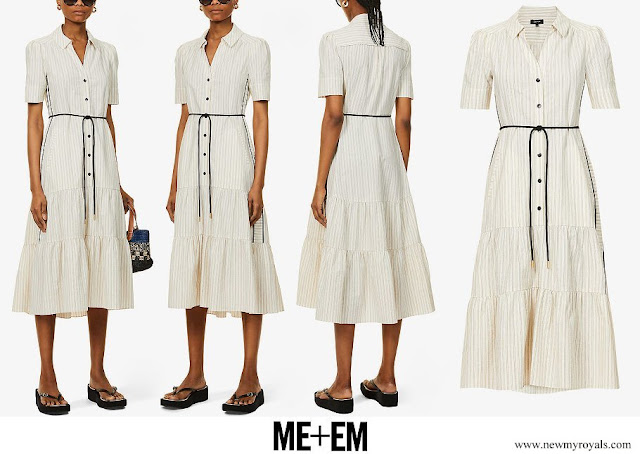 The Countess of Wessex wore ME+EM cotton summer stripe midi dress