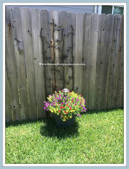 Front -Yard -DIY-Potted-Garden-Trellis-Solar-Light-From My Front Porch To Yours