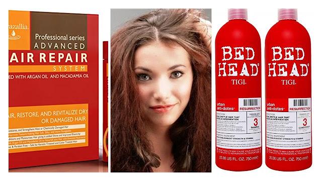 Mujer con cabello maltratado y seco