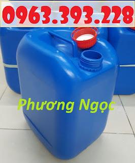 Can nhựa vuông 10 Lít, can nhựa 4 núm nhựa HDPE, can nhựa đựng hóa chất 2e46457bd142371c6e53