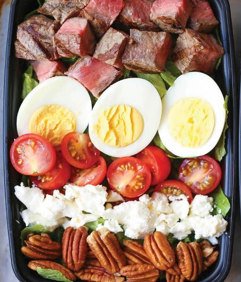 Steak Cobb Salad Meal Prep Recipe
