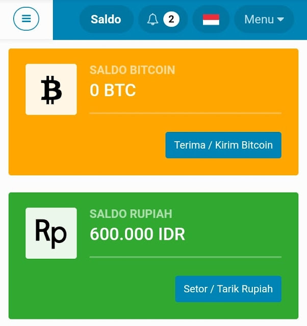 Cara Deposit Rupiah (IDR) Ke Indodax