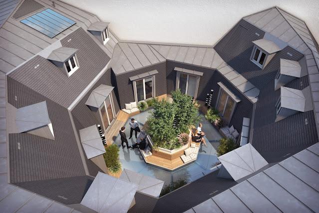 Perspective 3D - Axonométrie de la terrasse