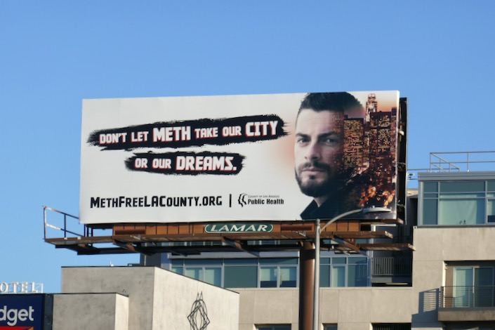 Dont let meth take our city or dreams billboard