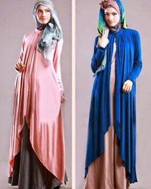Model desain baju long dress muslim terbaru