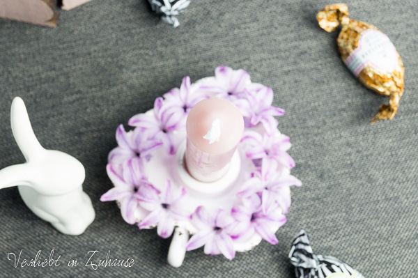 Ostern Dekoration Kerzenständer Herzform Porzellanhase
