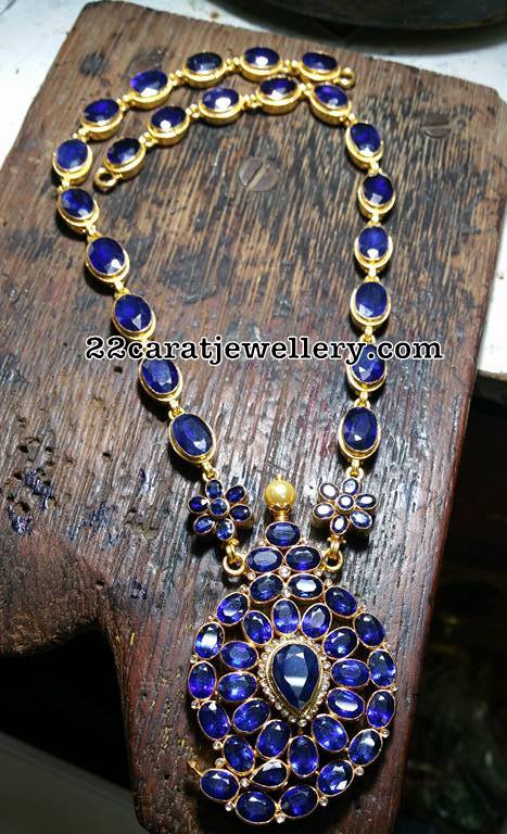 Blue Sapphire Necklace Bangles and Studs