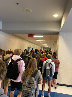 Students at Paulding North High School during the pandemic.