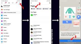 cara buat facebook page dengan telefon bimbit