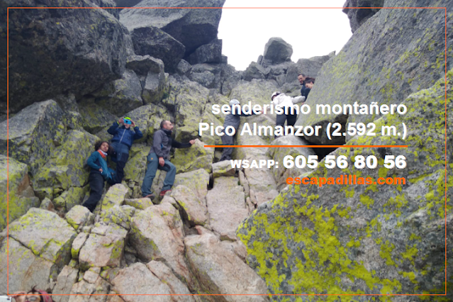 Ascensión al Pico Almanzor con - escapadillas.com - senderismo de montaña.