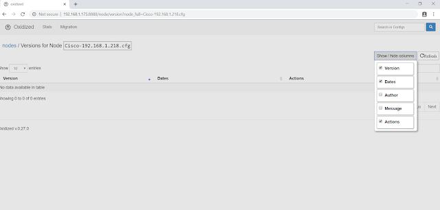 Oxidized - Cài đặt server backup configuration network tập trung với Oxidized trên Centos 7
