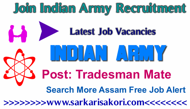 Join Indian Army Recruitment 2017 Tradesman Mate