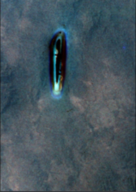 This is the best UFO photo of a Alien craft approaching the Gemini spaceship.