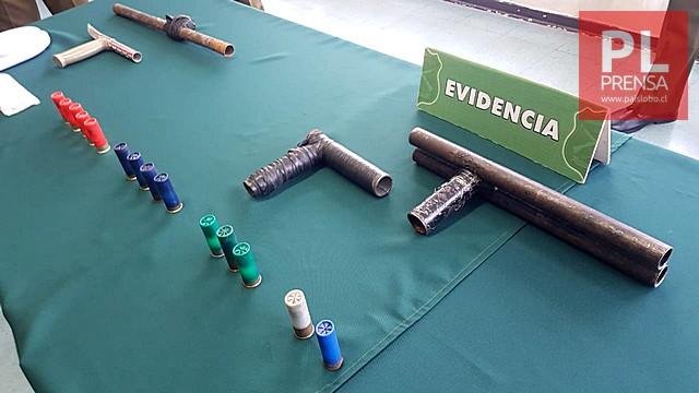 Osorno: 5 detenidos, 3 Carabineros lesionados, armas y droga decomisada
