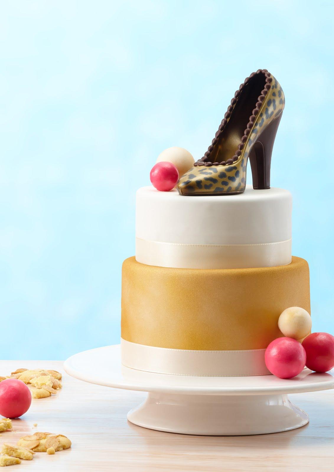 Shopping-Queen-Torte mit High Heel ganz aus Schokolade von arko