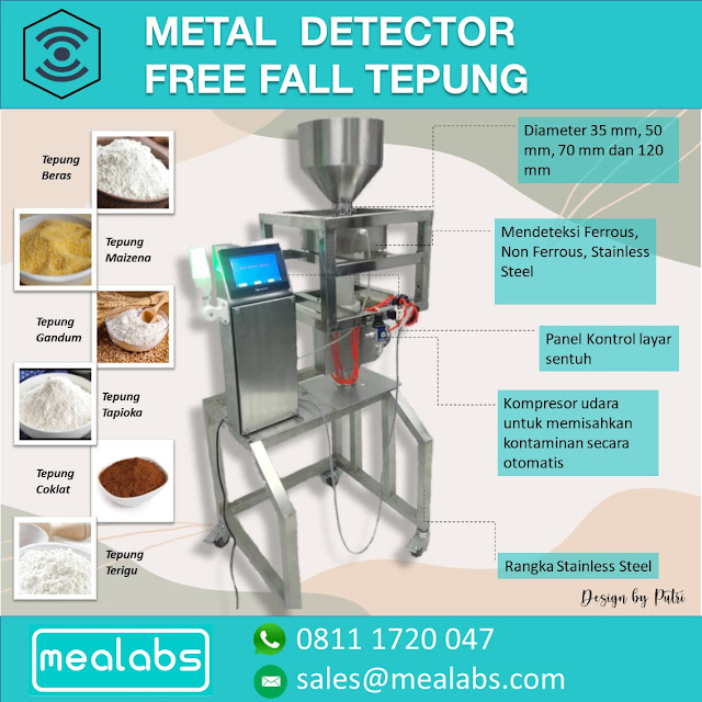 metal detector tepung