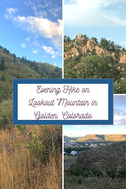 Evening Hike on Lookout Mountain in Golden, Colorado enjoying magnificent views.
