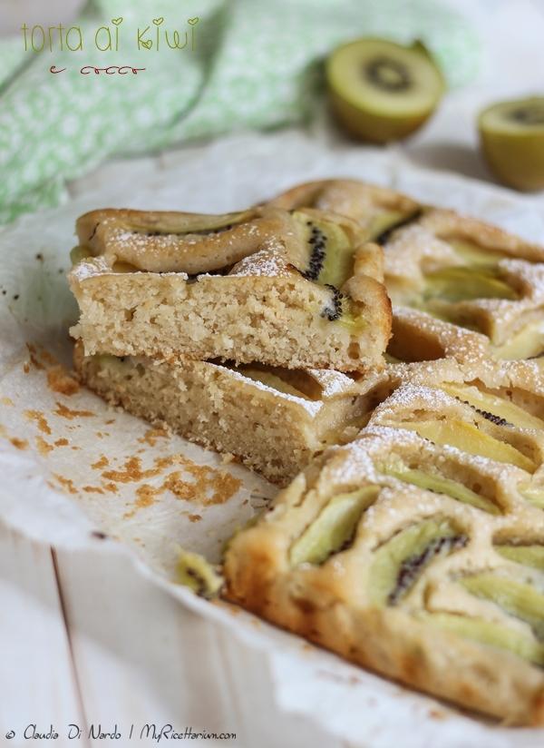 Torta vegana ai kiwi e cocco