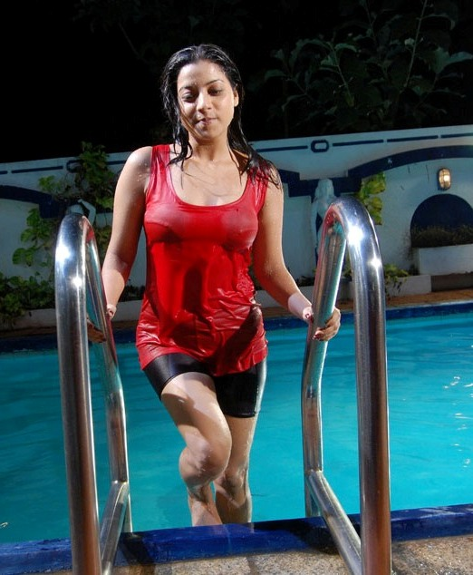 Keerthi Chawla Hot in Wet Dress