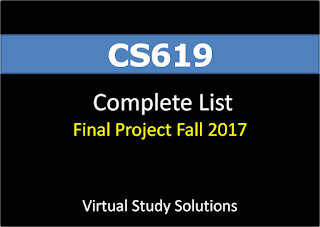 CS619 List of VU Final Projects for Fall 2017