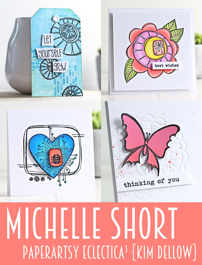Michelle Short samples for the February 2017 PaperArtsy {Kim Dellow} Product release