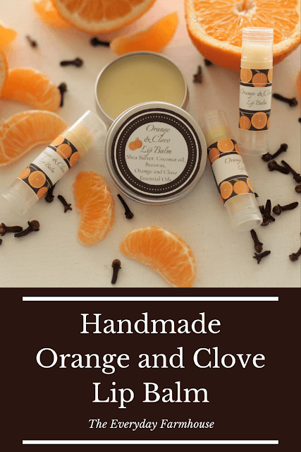 How to make handmade orange and clove lip balm.