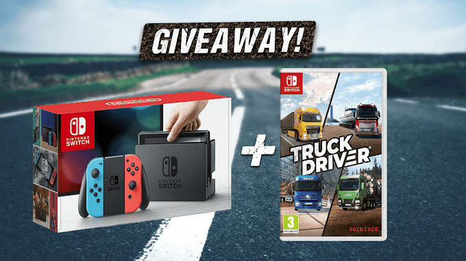Sorteio de um Nintendo Switch + Game Truck Driver