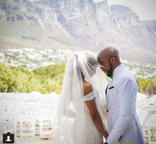Banky W & Adesua Pens Lovely Message To Each Others As  They Celebrate First Wedding Anniversary.
