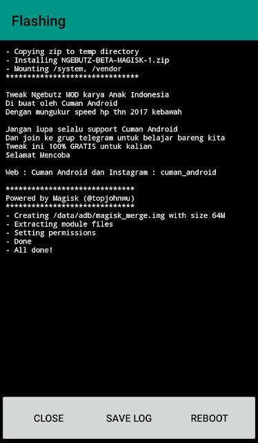 NGEBUTZ MOD, Tweak terbaik untuk hp android karya anak bangsa (SUPPORT MAGISK V.15+)