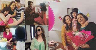 Bushra Ansari Having Fun at her 64th Birthday with her Grand Kids