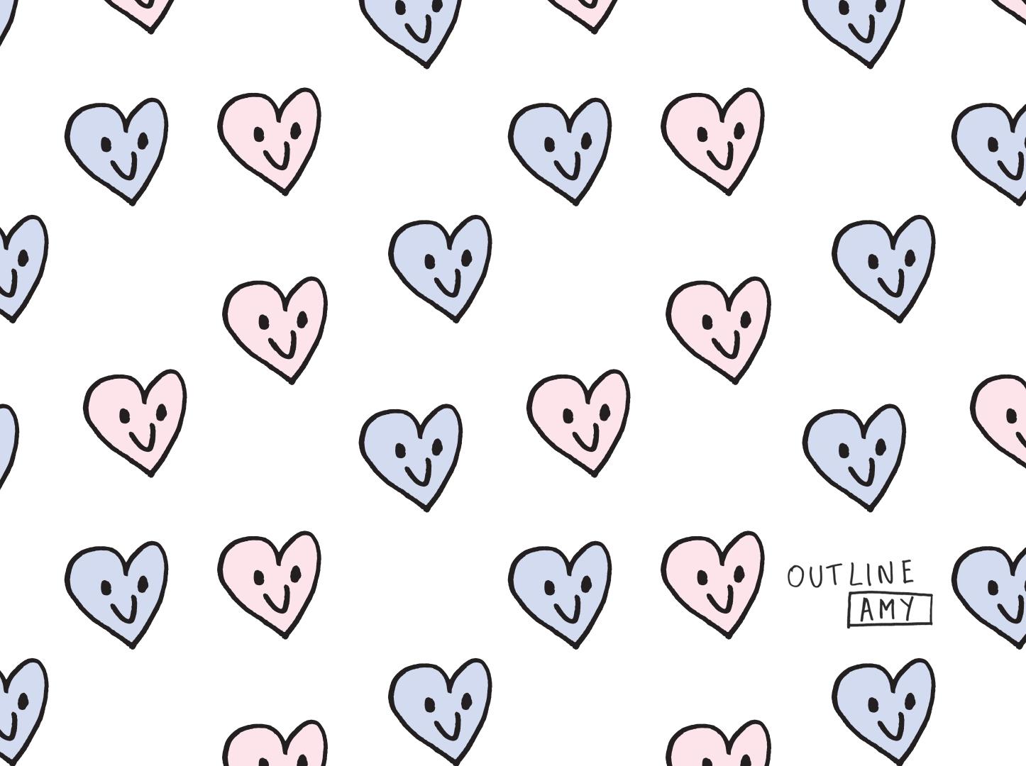 Free heart illustration desktop and iphone wallpaper