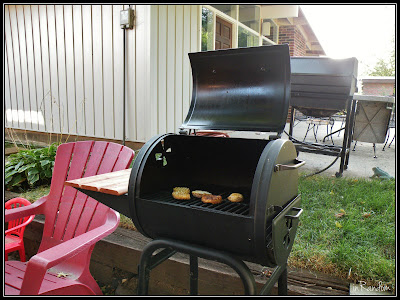 grilling up potatoes