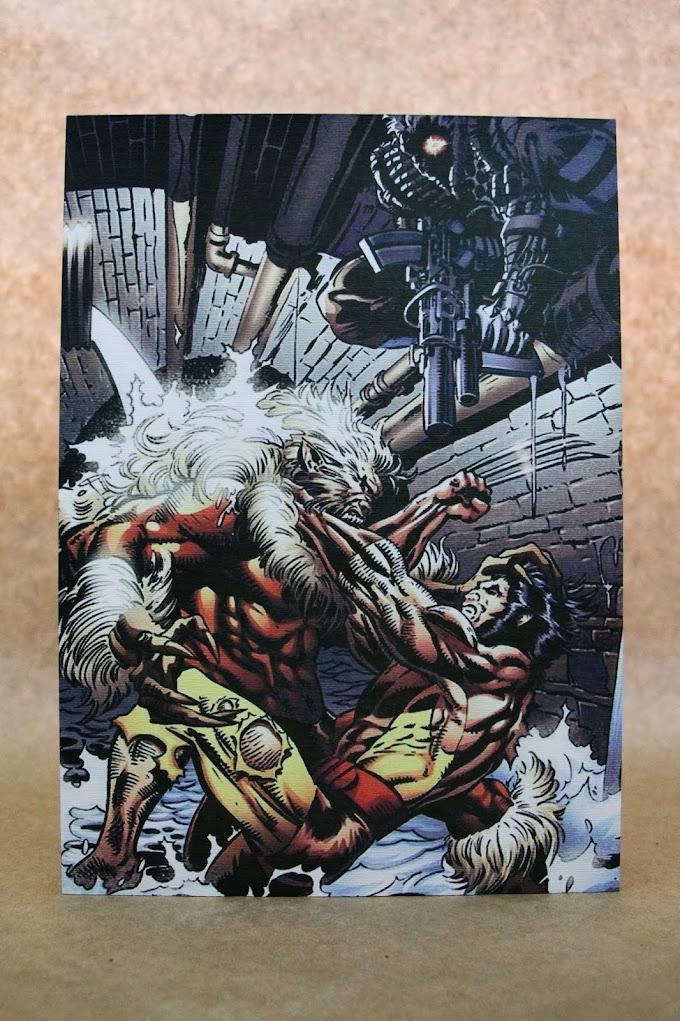 Quadro Wolverine, Cable, Dentes de Sabr (Massa Veio)