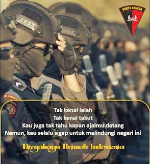 poster whatsapp, ig, fb ucapan selamat hut brimob
