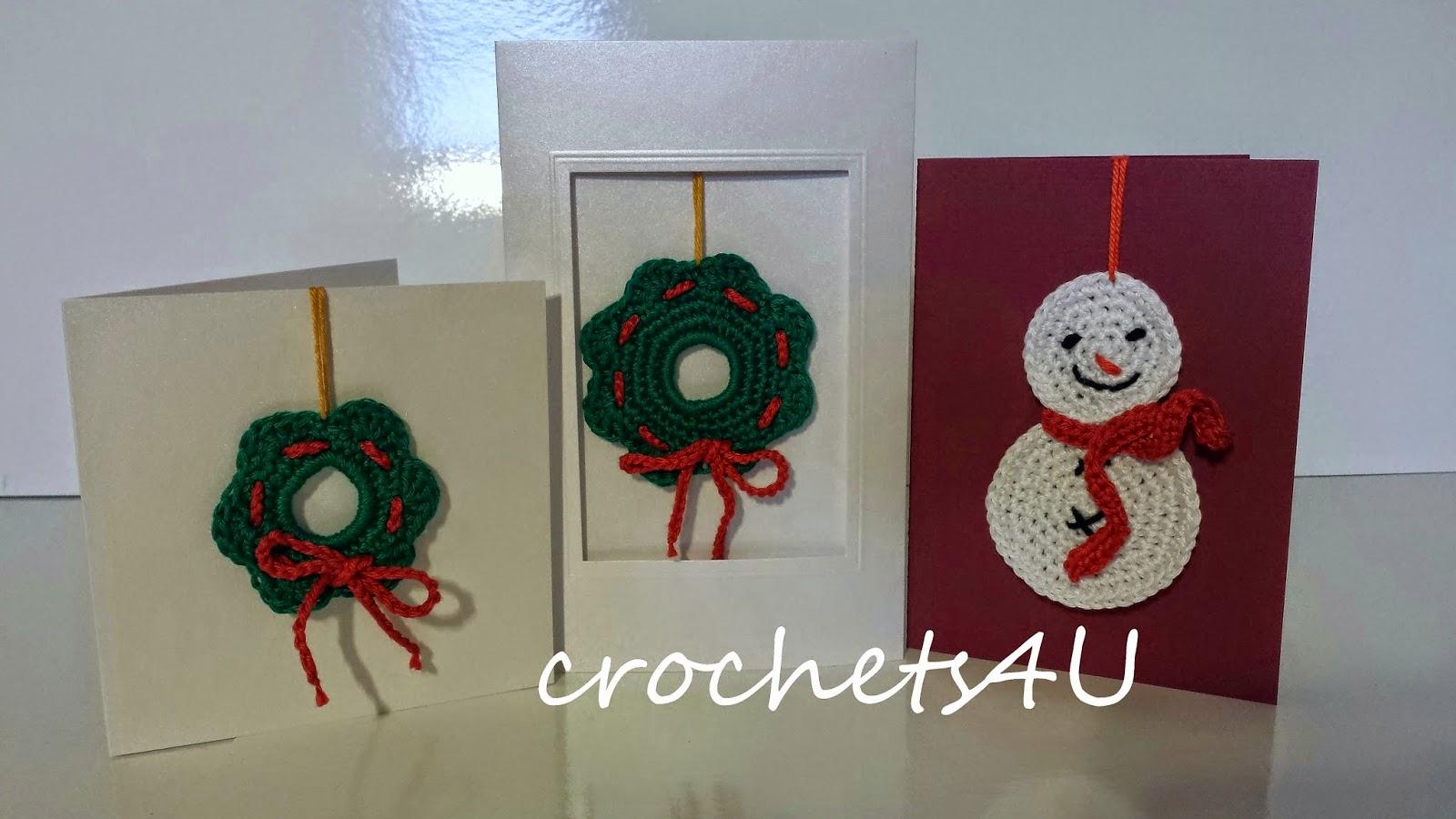 Crochets4u Kerstkaarten Haken