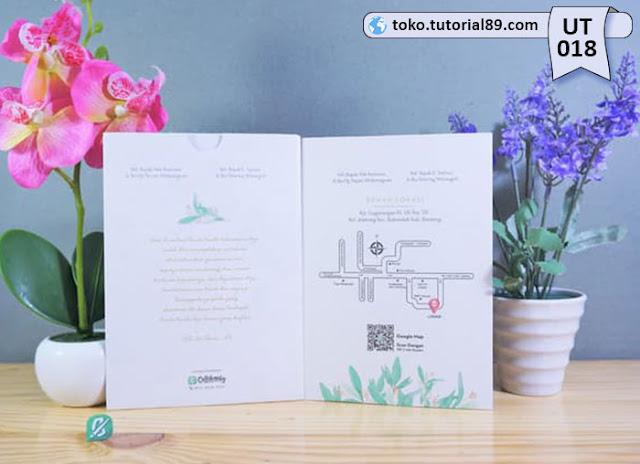 Undangan pernikahan UT018 - Single Soft Cover Amplop +free kartu ucapan terima kasih